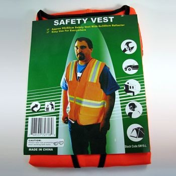 Safety Jacket - Large - Orange