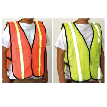 Orange Safety Vest with  Reflect Stripes