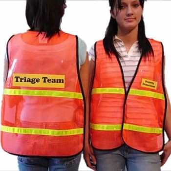 Safety Vest with  Clear Insert