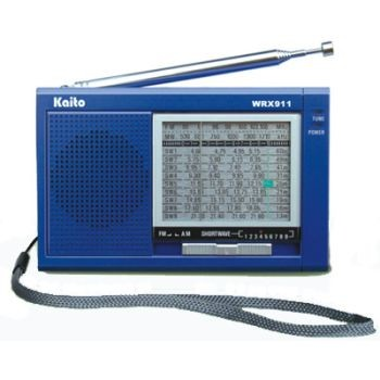 Pocket-Size Analog 11-Band Shortwave/AM/FM Radio/SW | WRX911 made by Kaito  | CPR Savers and First Aid Supply