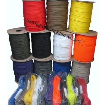 Parachute Cord (100',  Yellow) - Pack of 12