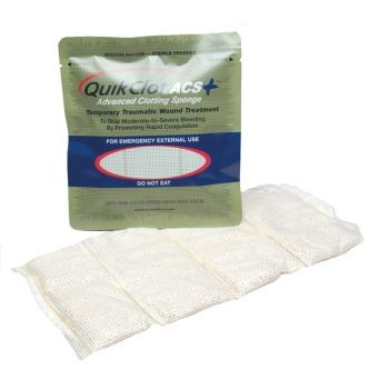 QuikClot ACS+ Hemostatic Agent (100 Gram Sponge Per Unit, Case of 25)