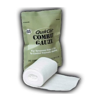"QuikClot Combat Gauze (3"" x 4 yds, Case of 50)"