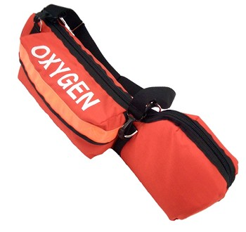 "Orange Padded ""E"" Cylinder Bag"