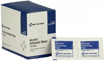 "Alcohol Cleansing Pad (1 1/4"" x 2 5/8"") - 100 per Dispenser Box"