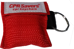 Res-Cue Key CPR Faceshield with One-Way Valve in Nylon Keychain/Pouch