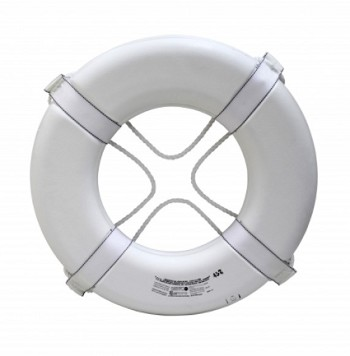 "KEMP USA COAST GUARD APPROVED 24"" RING BUOY  - WHITE"