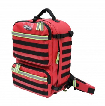 KEMP USA TARPAULIN RED RESCUE AND TACTICAL BAG - RED