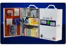 75V Class A 3 Shelf First Aid Cabinet