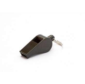 PLASTIC PEA WHISTLE - BLACK